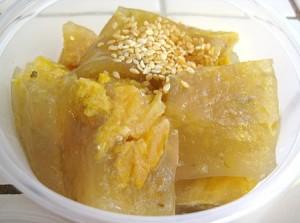 Bánh cho thực đơn món chay: Bánh chuối hấp nước cốt dừa