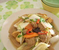 Vào bếp với món :La Hán Chay Xào Cải Thảo 9