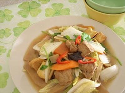 Vào bếp với món :La Hán Chay Xào Cải Thảo 1