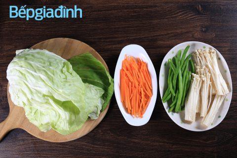 Món chay thanh nhẹ mà đẹp mắt: Bắp cải cuộn
