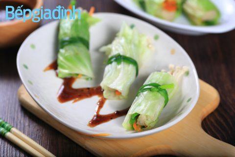 Món chay thanh nhẹ mà đẹp mắt: Bắp cải cuộn 1