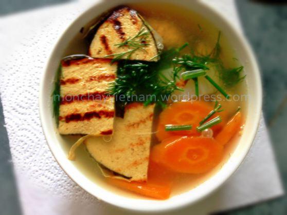 Bún cá cải thảo cà rốt thuần chay 1