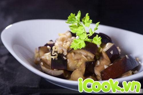 Món chay:Cà tím nướng xào bò 1