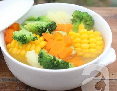 Món canh rau củ chay đủ chất