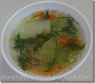 Món chay canh cà rốt cải thảo