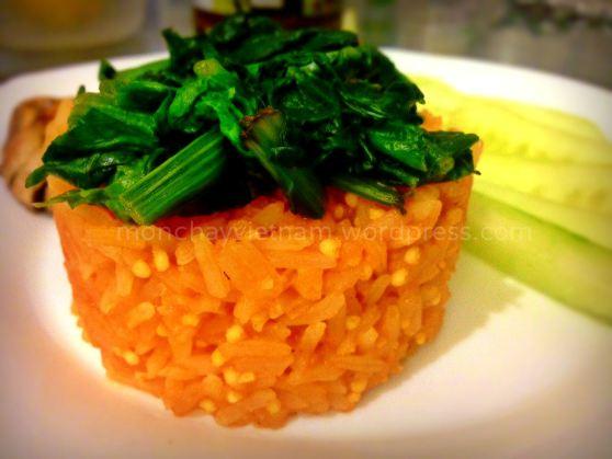mon chay : Cơm nấu sốt cà chua (kiểu Mêhicô) 1