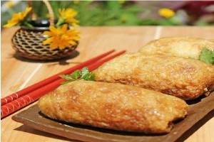 Món ăn chay Đậu phụ cuộn cơm kiểu Nhật