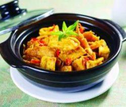 Món chay: Đậu phụ kho sả cà ri 10
