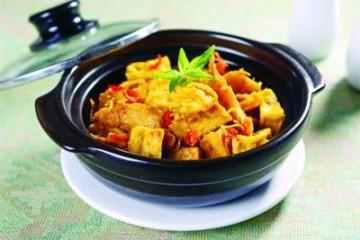 Món chay: Đậu phụ kho sả cà ri 1