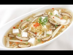 Cách làm món chay Soup đậu phụ chua cay