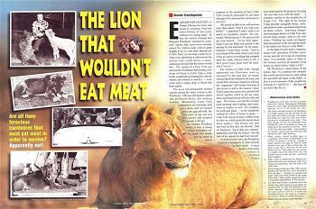 Câu chuyện  về chú sư  tử ăn chay  và sống thân thiện  với muôn loài