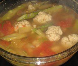 Món chay canh chua mì căn vò viên 6