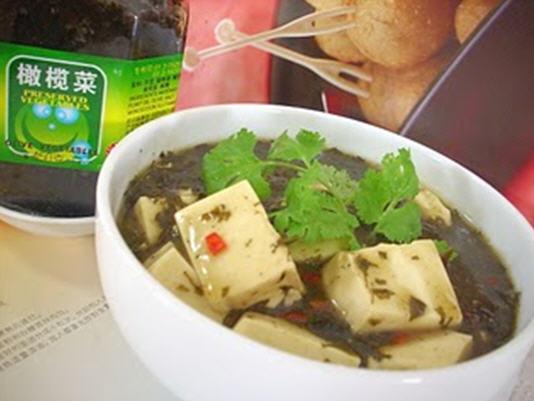 Món chay : Đậu hủ nấu cải mù tạc muối chua