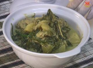 Món chay : Cà-Ri nước dừa cay.