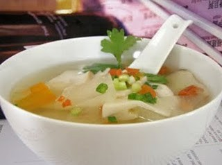 Món chay : Canh bí đao nấu Miso .