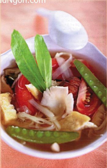 Món chay:Canh chua nấm