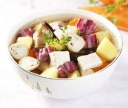 Món chay canh khoai nấu nấm 4