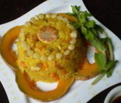 Món chay cơm chiên bí đỏ 4