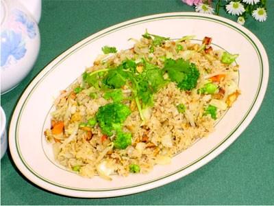 Món chay:cơm chiên dương châu