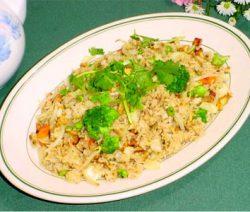Món chay:cơm chiên dương châu 8