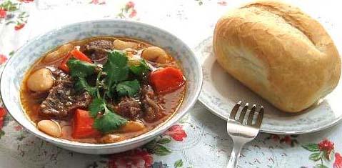 Món chay:Gan bò nấu rượu vang