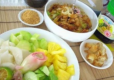 Món chay : Gỏi rau quả cay Tân Gia ba