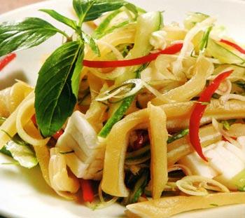 Cùng vào bếp thực món chay : Gỏi Thái .