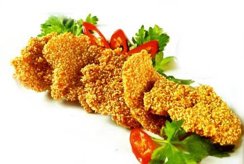 Món chay:Nấm bào ngư tẩm mè chiên giòn