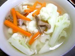 Món chay : Rau cải kho nước dừa .