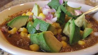 Món chay : Soup Fiesta Mễ Tây Cơ .