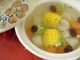 Ăn ngon với món chay: Soup Khoai Từ . 1