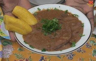 Món chay : Soup odika kiểu Gabon , Hạt xoài hoang . 1