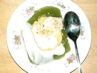 Món chay bánh gói nước dừa