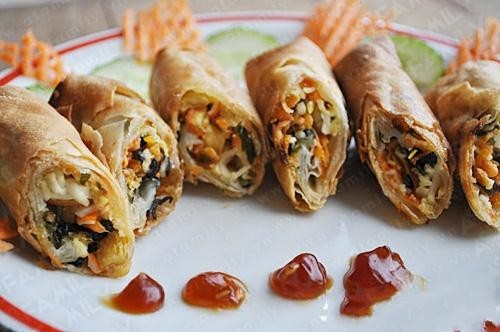 Nem rong biển – món ăn chay hấp dẫn