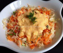 món chay : Salad bắp cải cà rốt sốt quýt 1
