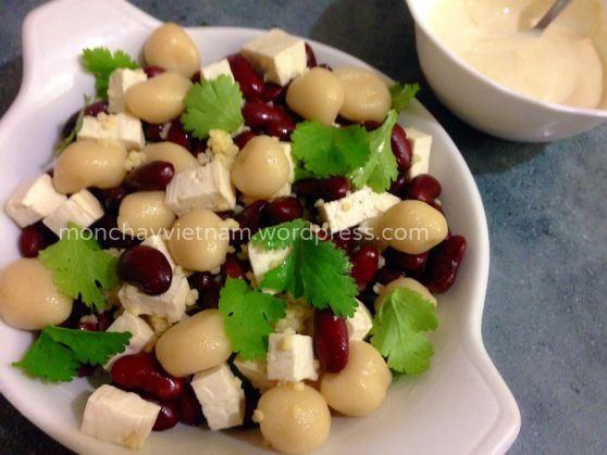 Món chay : Salad đậu đỏ hạt kê và trân châu 1
