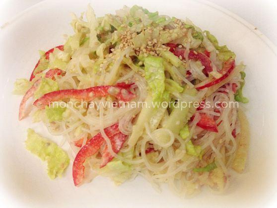 món chay : Salad miến kiểu Nhật với sốt Mayonnais