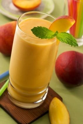 Thức uống thực dưỡng:Sinh tố trái đào