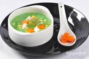 Vào bếp với món chay : Soup cốm xanh.