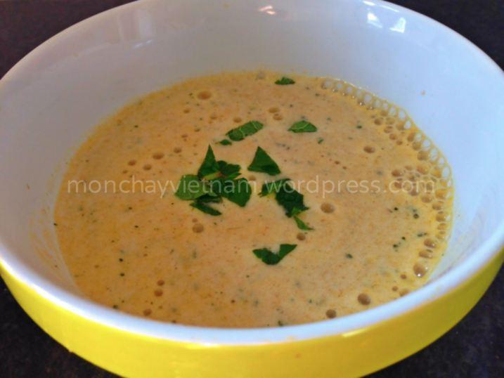 món chay : Soup khoai lang yến mạch bột sắn