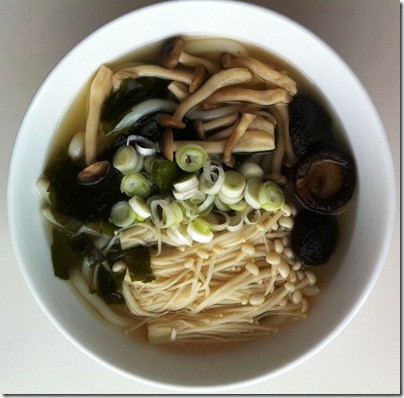 Món chay soup mì udon nhật